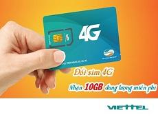 [Độc quyền] Viettel tặng 10GB data miễn phí khi đổi sim 4G