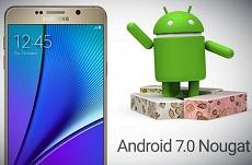 Android 7.0 sắp được Samsung tung ra cho Galaxy Note 5
