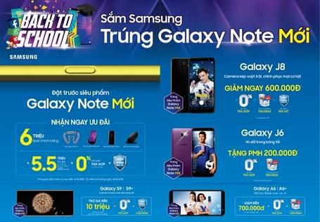 Mua điện thoại, máy tính bảng Samsung cơ hội trúng ngay siêu phẩm Galaxy Note 9