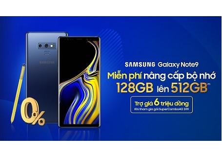 [HOT] Nhận ngay cơ hội miễn phí nâng cấp bộ nhớ 128GB lên 512GB khi mua Galaxy Note 9
