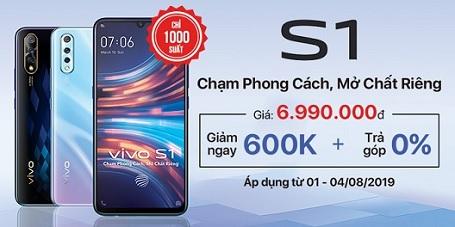 Duy nhất 1000 suất mua Vivo S1 với giá giảm cực sốc tại Viettel Store