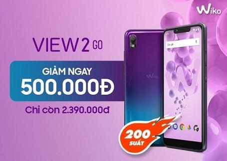 Đã rẻ nay còn rẻ hơn - Giảm ngay 500.000đ khi mua Wiko View 2 Go tại Viettel Store