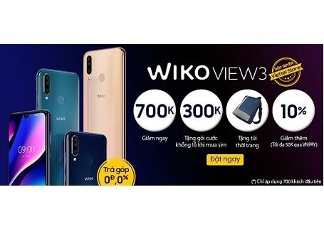 Đặt trước Wiko View 3 nhận ngay nhiều ưu đãi và quà tặng hấp dẫn