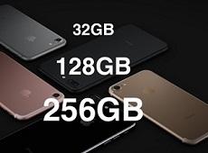 Nên mua iPhone 7 bộ nhớ bao nhiêu là đủ? 32GB, 128GB hay 256GB