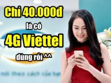 Chỉ 40.000đ, hòa nhịp cùng sóng 4G Viettel
