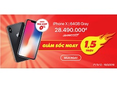 iPhone X 64GB Gray giảm giá cực sốc, bạn đã biết chưa?