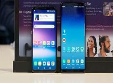 So sánh màn hình POLED và màn hình AMOLED trên LG V30 và Galaxy Note 8
