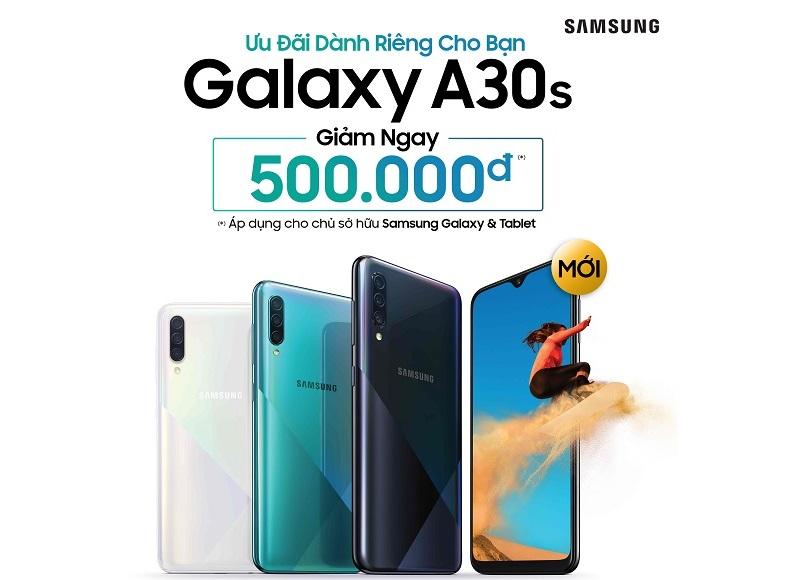 Tặng ngay 500.000 đồng và pin sạc dự phòng khi mua Galaxy A30s