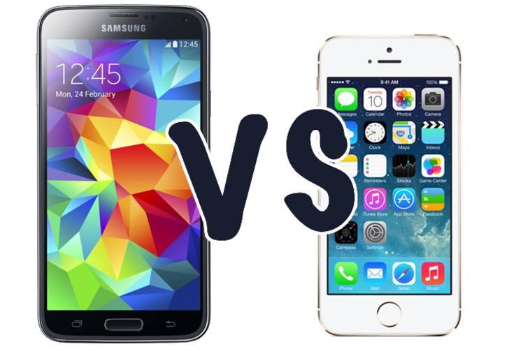 [So Sánh] SamSung Galaxy S5 và iPhone 5s